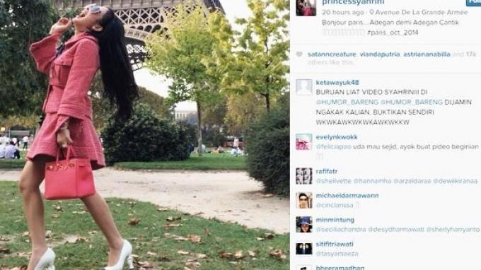 Video Maju Mundur Cantik Ala Syahrini Heboh Di Internet