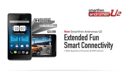 Harga Smartfren Andromax U2 Baru dan Bekas Awal November 2014