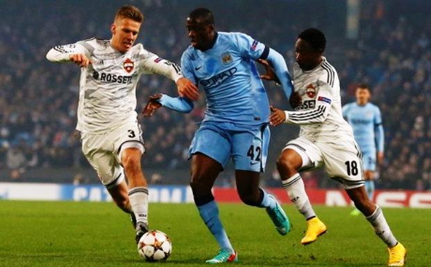 Hasil Liga Champions Manchester City vs CSKA Moscow