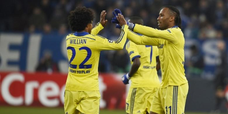 Hasil Liga champion tadi malam Schalke vs Chelsea