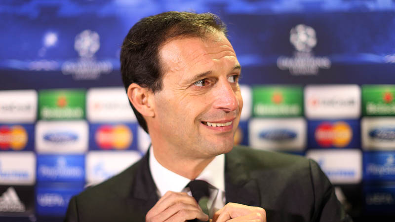 AC Milan's Italian manager Massimiliano Allegri attends a press conference at Celtic Park, Glasgow, Scotland, on November 25, 2013 ahead of their UEFA Champions League group H football match against Celtic on November 26. AFP PHOTO / IAN MACNICOL        (Photo credit should read Ian MacNicol/AFP/Getty Images)