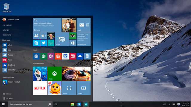 fakta menarik windows 10