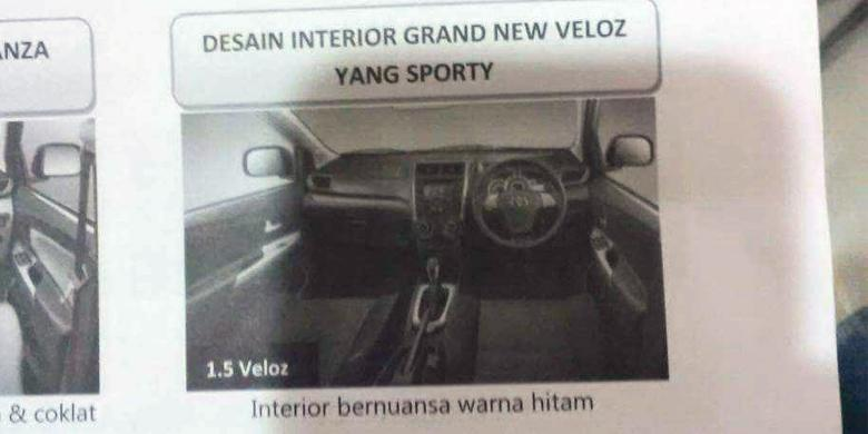 interior Grand New Avanza