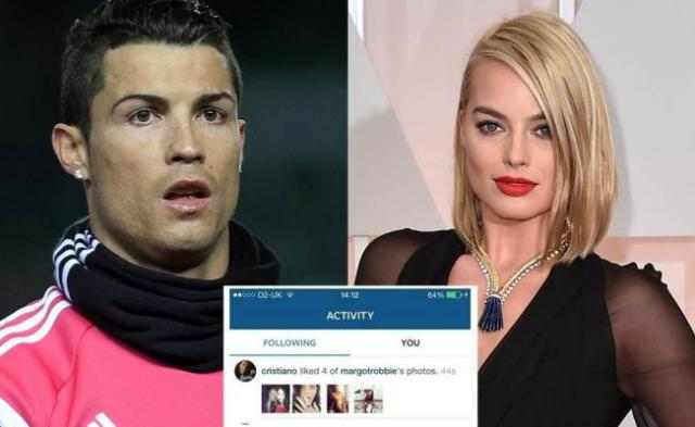 Ronaldo like foto margot di instagram (doc/eluniversal.com.mx)