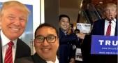 Setya Novanto dan Fadli Zon di kampanye Donald Trump