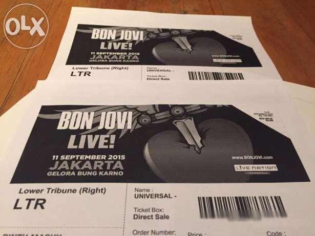 Gambar tiket Bon Jovi ada di situs OLX