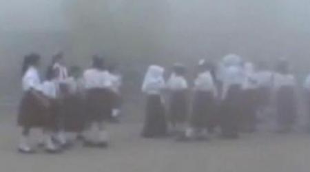 Kabut asap di Palangkaraya