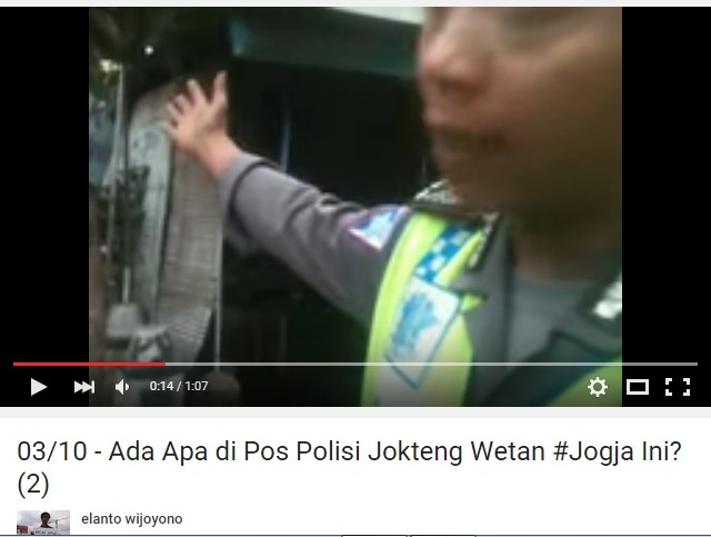 Video Elanto Bongkar Praktik Suap Polisi Di Jogja