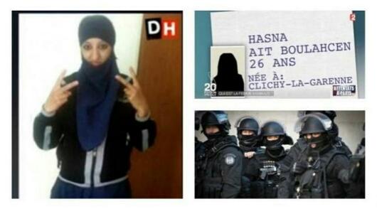 Foto Hasna wanita ISIS di Prancis