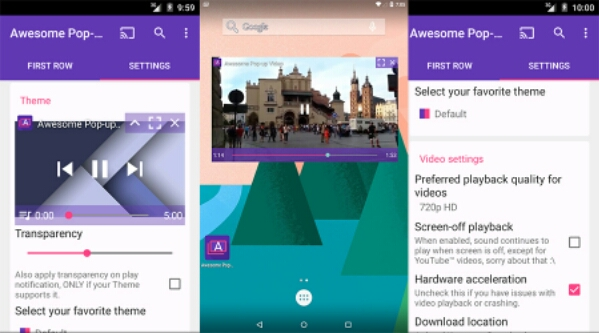 Putar YouTube dengan Awesome Pop-up Video