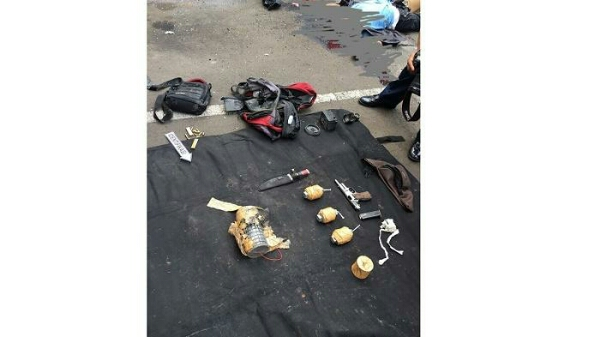 Inilah foto senjata pelaku bom meledak di Sarinah