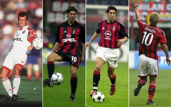 Siapa penerus nomer 10 AC Milan setelah Honda?